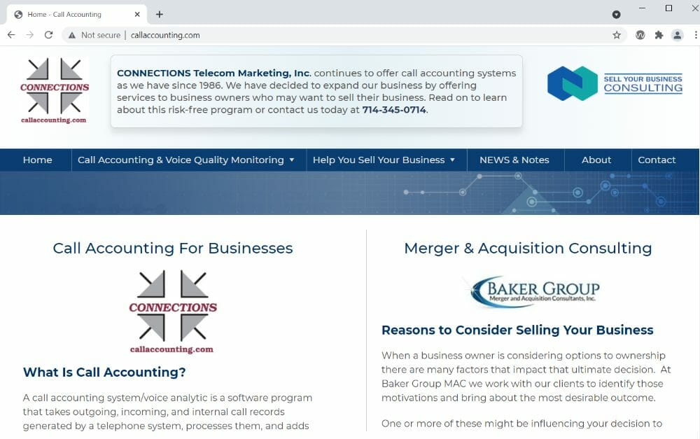Call Accounting - Help Selling Your Business