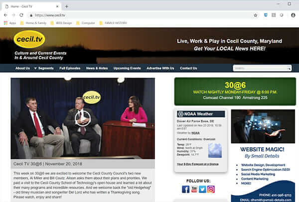 Cecil TV - Local News, Events Cecil Co MD
