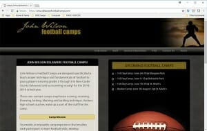 Delaware Football Camps