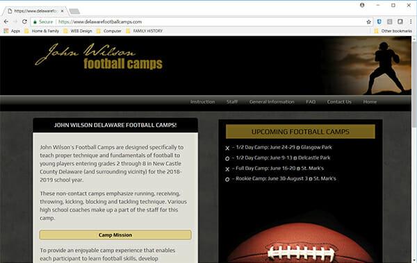 John Wilson Delaware Football Camps