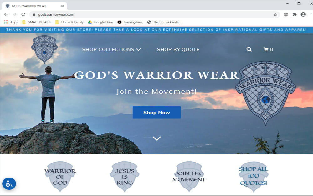 Gods Warrior Wear ONLINE