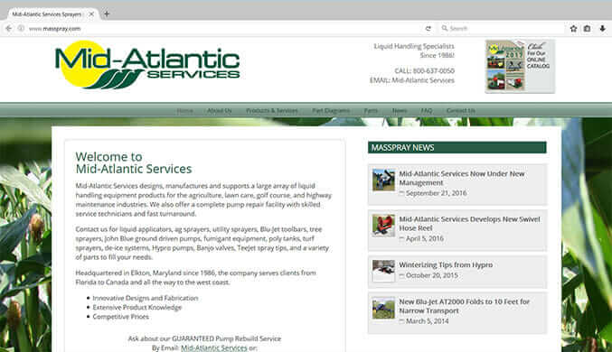 Mid-Atlantic Services Agricultural Sprayers