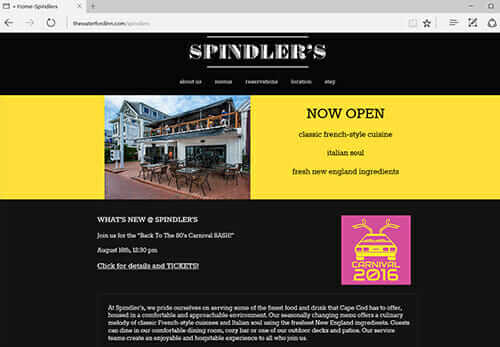 Spindlers Inn, Provincetown MA