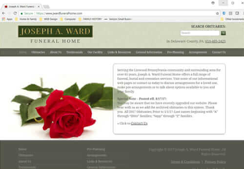 J.A. Ward Funeral Home PA