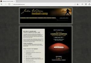 John Wilson Charger Champion Football Camp, Wilmington DE