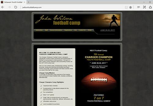 John Wilson Charger Champion Youth Football Camp, Wilmington DE
